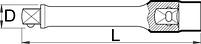 """Головка торцевая шестигранная удлинённая изолированная, 1/2"""" - 190/2LVDEDP UNIOR, фото 2"""