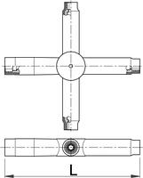 Ключ четырёхсторонний изолированный - 213/2VDEDP UNIOR, фото 2