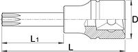 """Головка торцевая со вставкой с профилем TX, 3/4"""" - 197/2ATX UNIOR, фото 2"""