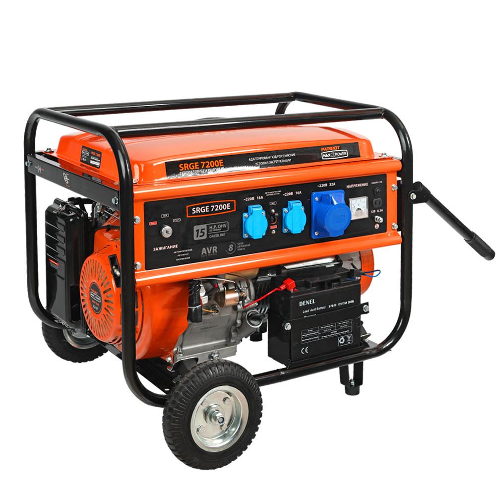 Генератор бензиновый PATRIOT Max Power SRGE 7200E