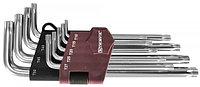 Набор ключей торцевых T-TORX® с центрированным штифтом, Т10H-T50H, 9 предметов TTK9S