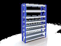Сборный полочный стеллаж для склада