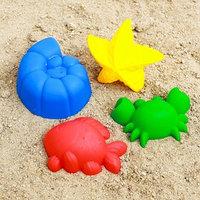 Набор для игры в песке 60 4 формочки, МИКС