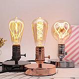 Лампа светодиодная led Эдисона 9 ватт,  лампы ретро-стиля, ретро лампы, винтажные лампы, старинные лампы, фото 8