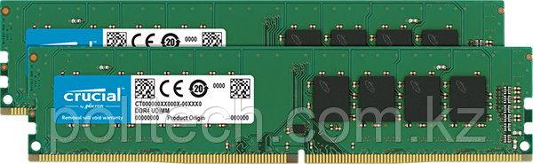 Оперативная память 32GB KIT (2x16Gb) DDR4 2666MHz Crucial PC4-21300 CL=19 19-19-19 Unbuffered NON-ECC 1.2V
