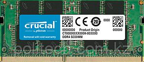 Оперативная память для ноутбука 16GB DDR4 2666 MHz Crucial PC4-21300 SO-DIMM CL=19 Unbuffered NON-ECC