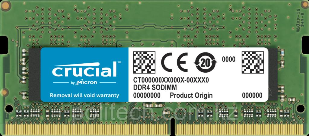 Оперативная память для ноутбука 32GB DDR4 3200 MT/s Crucial PC4-25600 CL22 SO-DIMM1.2V CT32G4SFD832A