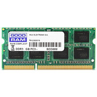 Оперативная память для ноутбука 4Gb DDR3 1600Mhz GOODRAM SODIMM PC3-12800 CL11 GR1600S364L11S/4G