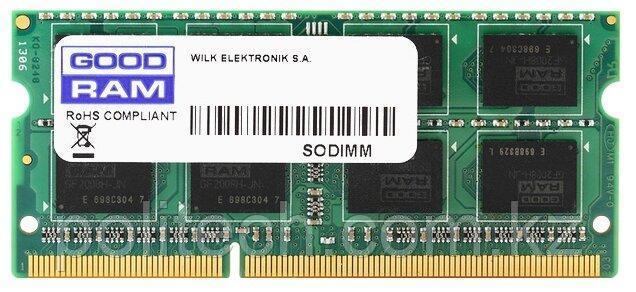 Оперативная память для ноутбука 8Gb DDR3 1600Mhz GOODRAM SODIMM PC3-12800 CL11 1.35V GR1600S3V64L11/8G