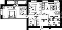 """3 комнатная квартира в ЖК """"Рио-де-Жанейро"""" 83.6 м²"""