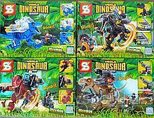 Конструктор Аналог лего Lego 4в1 Jurassic World Мир Юрского периода SY 1504 робозавры охотники 947 деталей
