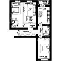 """3 комнатная квартира в ЖК """"Рио-де-Жанейро"""" 92.4 м²"""