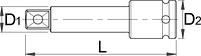 """Удлинитель ударный, 1.1/2"""" - 234.4/4 UNIOR, фото 2"""
