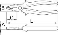 Плоскогубцы комбинированные, рукоятки BI - 405/1BI UNIOR, фото 2
