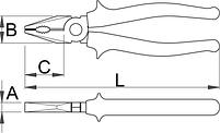 Плоскогубцы комбинированные - 406/4G UNIOR, фото 2