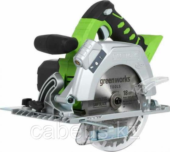 Пила циркулярная аккумуляторная GREENWORKS G24CS без АКБ и ЗУ (1500507) [1500507]