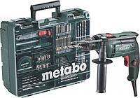 Дрель ударная сетевая METABO SBE 650 (БЗП) односкоростная, с набором оснастки [600671870]