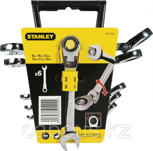 Набор комбинированных ключей с трещоткой STANLEY 4-91-444 6 предметов [4-91-444]