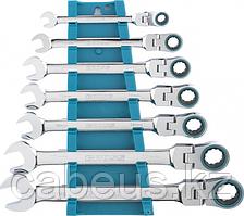 Набор комбинированных ключей с трещоткой GROSS 14891 7 предметов [14891]