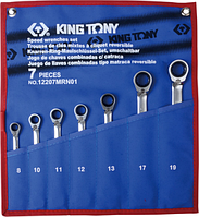 Набор комбинированных ключей с трещоткой KING TONY 12207MRN01 7 предметов [12207MRN01]