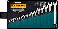 Набор ключей KRAFTOOL 18 шт гаечных 6-32 мм, [27079-H18_z01]