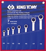 Набор комбинированных ключей с трещоткой KING TONY 12107MRN 7 предметов [12107MRN]
