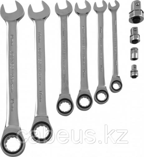 Набор ключей комбинированный трещоточный JONNESWAY W45110S 8-19 мм, 10 предметов [048879]