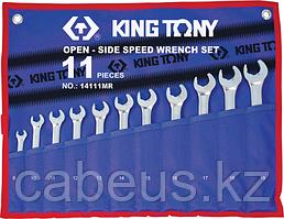 Набор комбинированных ключей с трещоткой KING TONY 14111MRN 11 предметов [14111MRN]
