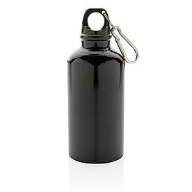 Спортивная алюминиевая бутылка с карабином