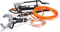Комплект гидравлических ножниц с ножной помпой КВТ НГПИ-85 для резки кабелей под напряжением [61843]