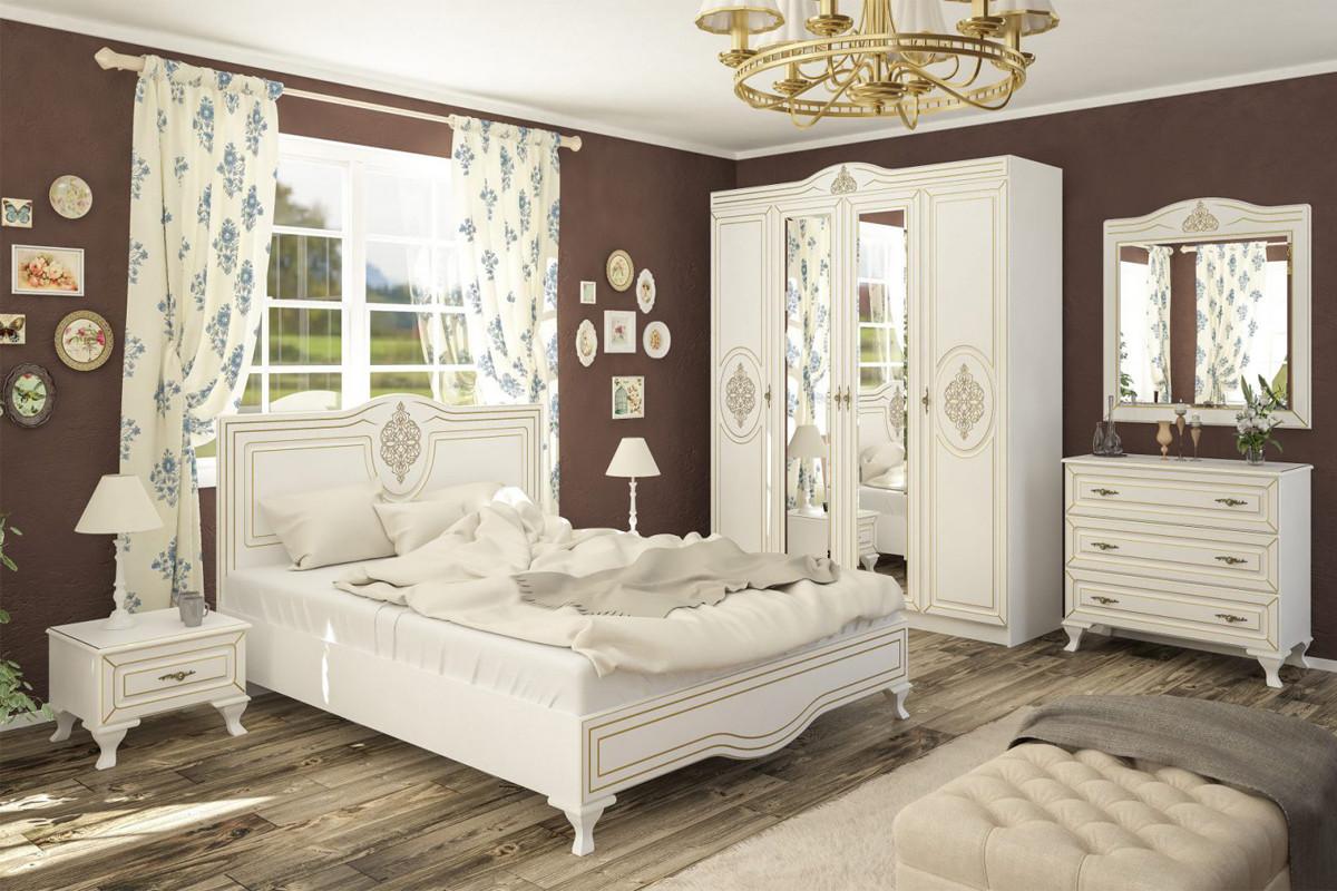 Комплект мебели для спальни Милан, Белый, MEBEL SERVICE(Украина)