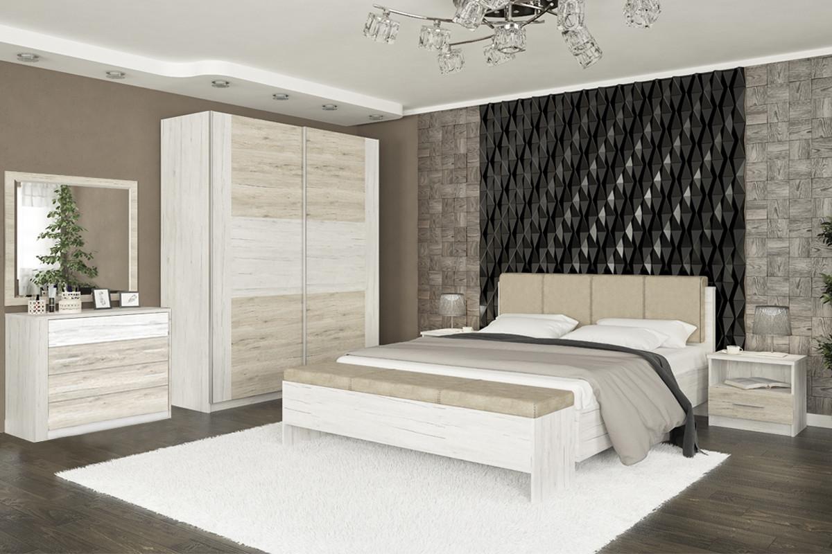 Комплект мебели для спальни Ким, Карпатия выбеленый, MEBEL SERVICE(Украина)
