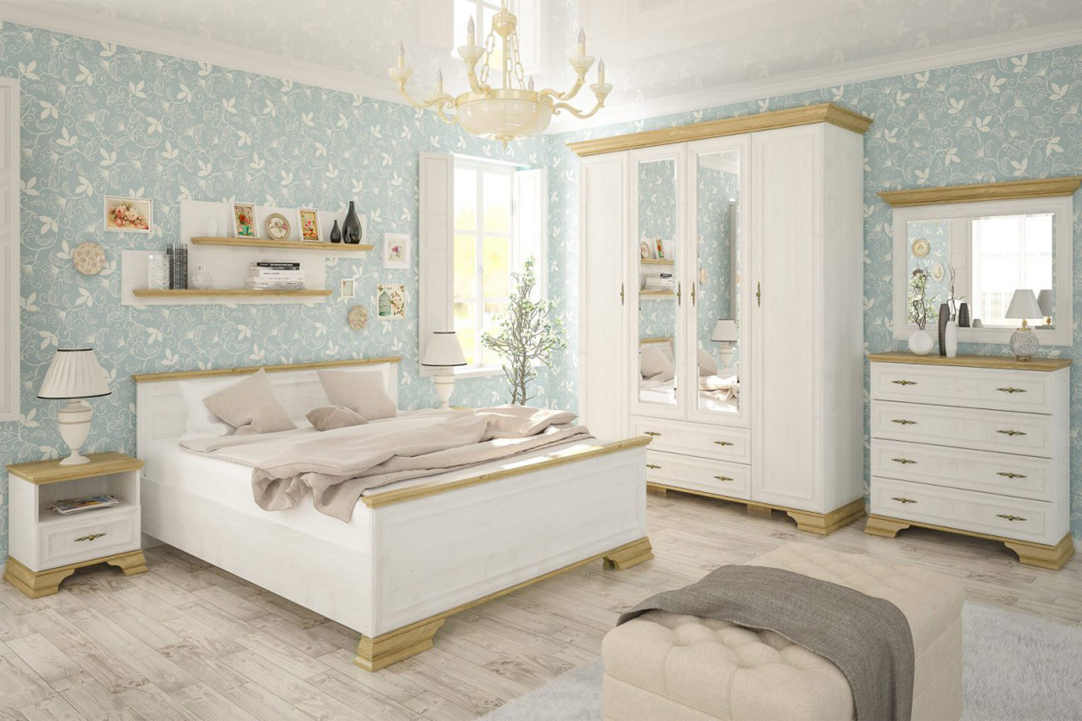 Комплект мебели для спальни Ирис, Дуб Андерсон пайн, MEBEL SERVICE(Украина)