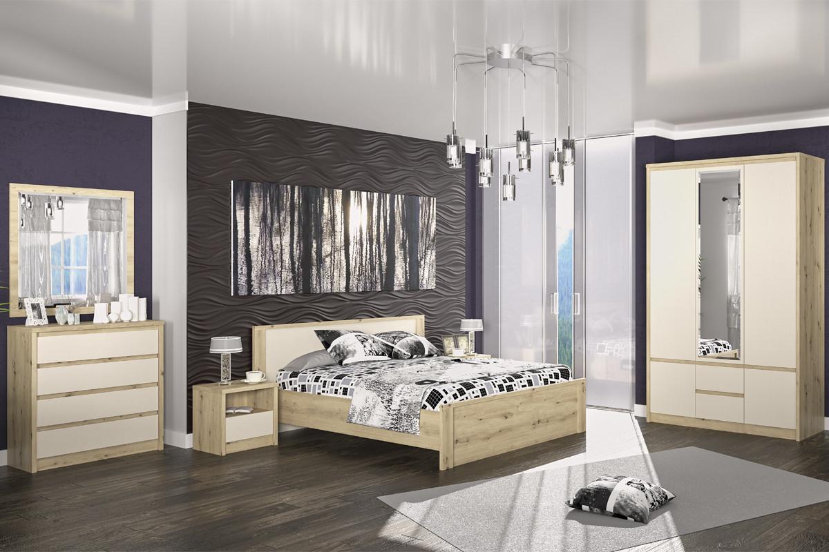 Комплект мебели для спальни Доминика, Шампань, MEBEL SERVICE(Украина)