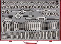 Набор резьбонарезных инструментов MATRIX метчиков и плашек м2-м18, 110 шт. метал. кейс// [773110]