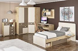 Шкаф для одежды угловой 1Д  Лами, Латте/Шампань, MEBEL SERVICE (Украина)