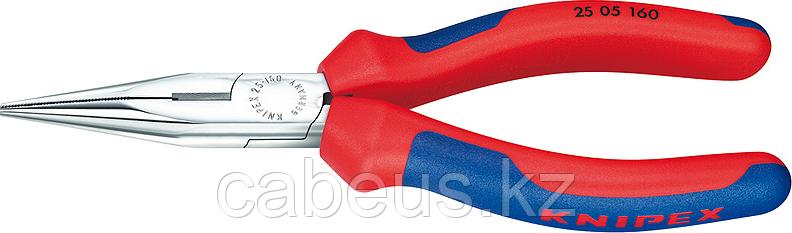 Круглогубцы с плоскими губками и режущими кромками KNIPEX 2505160 160 мм [KN-2505160]