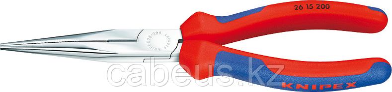 Круглогубцы с плоскими губками и режущими кромками KNIPEX 2615200 200 мм [KN-2615200]