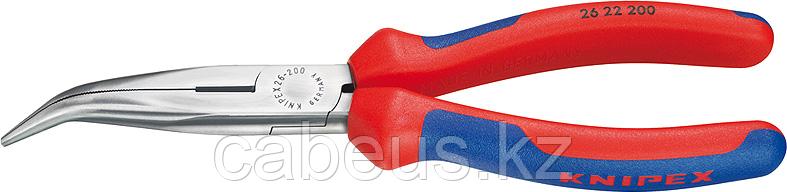 Длинногубцы KNIPEX 2622200 200 мм, с режущими кромками, модель 'АИСТ' [KN-2622200]