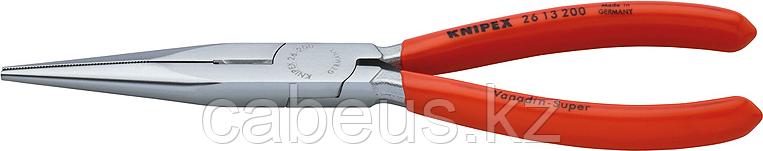 Круглогубцы с плоскими губками и режущими кромками KNIPEX 2613200 200 мм [KN-2613200]