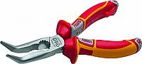 Длинногубцы изогнутые диэлектрические NWS 141-49-VDE-205, угол 45° 1000 V, 205 мм [141-49-VDE-205]