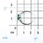 Кольцо из серебра с натуральным агатом, фото 2