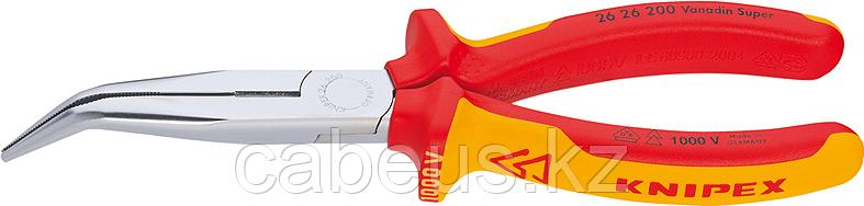 Круглогубцы диэлектрические KNIPEX 2626200 1000 V, 200 мм [KN-2626200]