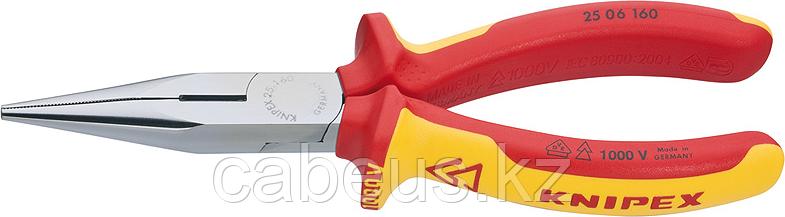 Круглогубцы диэлектрические KNIPEX 2506160 1000 V, 160 мм [KN-2506160]