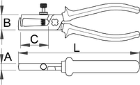 Пассатижи для снятия изоляции, рукоятки BI - 478/1BI UNIOR, фото 2