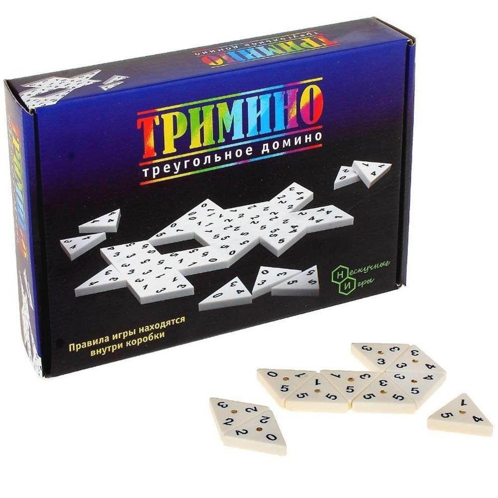 """Настольная игра """"Тримино"""" Треугольное домино"""
