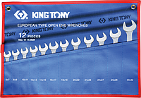 Набор ключей рожковых KING TONY 1112MRN 12 предметов [1112MRN]