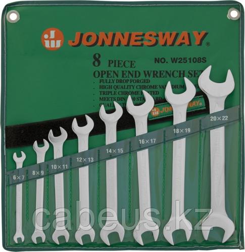 Набор ключей рожковых в сумке JONNESWAY W25108S 6-22 мм, 8 предметов [047336]