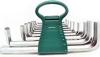 Набор ключей шестигранных JONNESWAY H02MH217S удлиненных дюймовых, 17 предметов [049116]