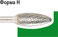 Бор-фреза по металлу D.BOR форма Н язык пламени 12,7*32,0/77,0 хв. 6 мм 9f-17127k02d [W-040-9F-17127K02D]